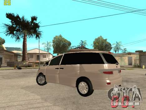Toyota Estima KZ Edition 4wd para GTA San Andreas vista traseira