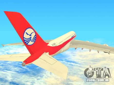 Airbus  A380-800 Sichuan Airlines para GTA San Andreas vista traseira