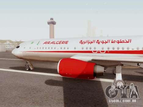 Boeing 737-800 Air Algerie para GTA San Andreas esquerda vista