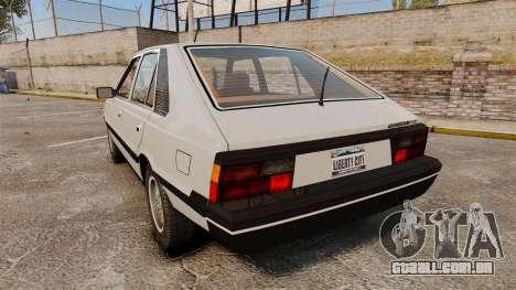 FSO Polonez 1500 para GTA 4 traseira esquerda vista