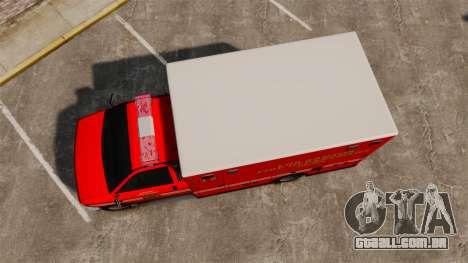 Brute LSFD Paramedic para GTA 4 vista direita