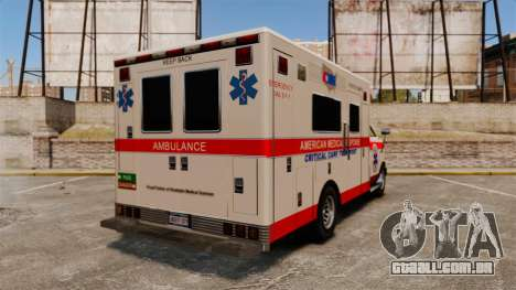 Brute Ambulance v2.1-SH para GTA 4 traseira esquerda vista