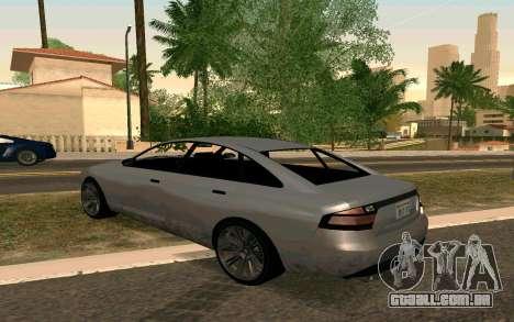 GTA V Obey Tailgater para GTA San Andreas esquerda vista