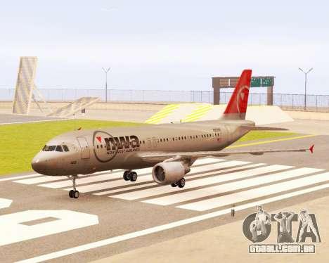 Airbus A320 NWA para GTA San Andreas