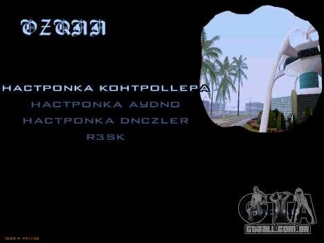 Menu San Andreas 2014 para GTA San Andreas por diante tela