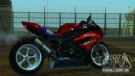 Kawasaki Ninja ZX-6R para GTA San Andreas esquerda vista