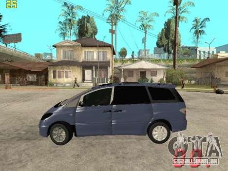 Toyota Estima KZ Edition 4wd para GTA San Andreas esquerda vista