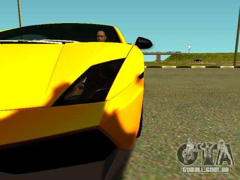 Lamborghini Gallardo Super Trofeo Stradale para GTA San Andreas vista interior