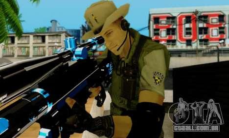 Resident Evil Apocalypse S.T.A.R.S. Sniper Skin para GTA San Andreas oitavo tela