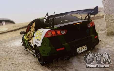 Mitsubishi Lancer Evolution X 2008 para as rodas de GTA San Andreas