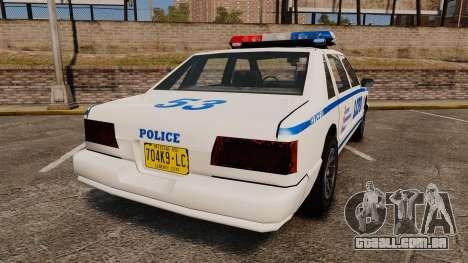 GTA SA Police Cruiser LCPD [ELS] para GTA 4 traseira esquerda vista