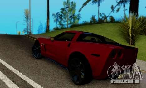 Chevrolet Corvette Grand Sport 2010 para GTA San Andreas traseira esquerda vista