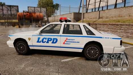 GTA SA Police Cruiser LCPD [ELS] para GTA 4 esquerda vista