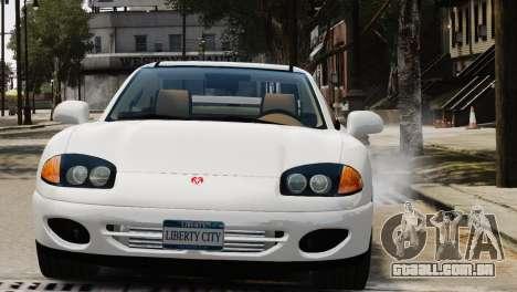 Dodge Stealth Turbo RT 1996 para GTA 4 vista de volta