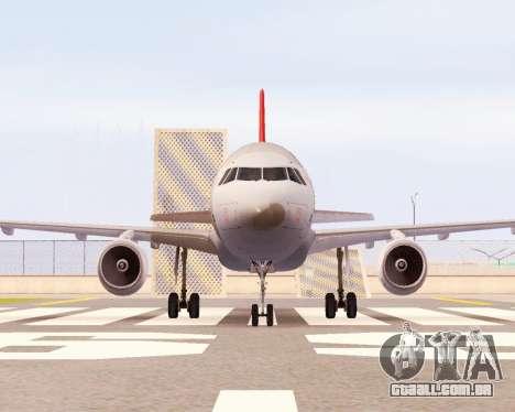 Airbus A320 NWA para GTA San Andreas esquerda vista