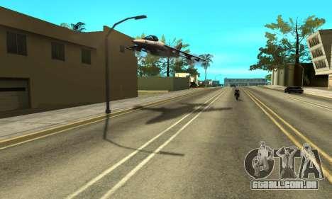 Sombras no estilo de RAIVA para GTA San Andreas quinto tela