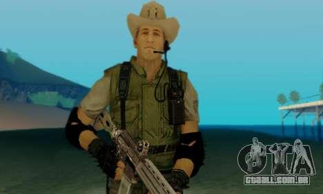 Resident Evil Apocalypse S.T.A.R.S. Sniper Skin para GTA San Andreas por diante tela