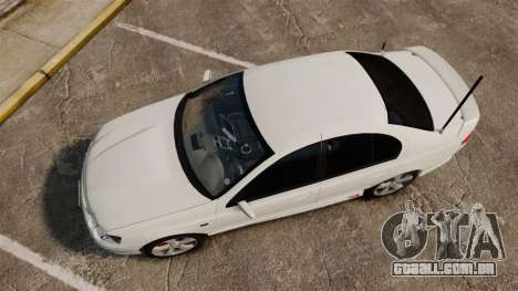 Ford Falcon XR8 Police Unmarked [ELS] para GTA 4 vista direita