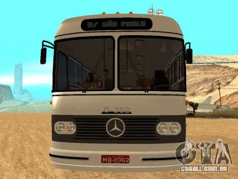 Mercedes Benz Mb O362 para GTA San Andreas vista traseira