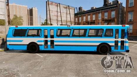 Brute Bus Japanese Police [ELS] para GTA 4 esquerda vista