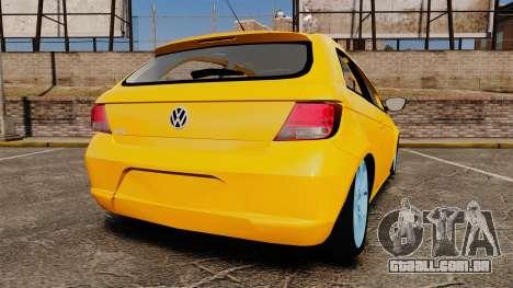 Volkswagen Gol G5 3 Puertas para GTA 4 traseira esquerda vista