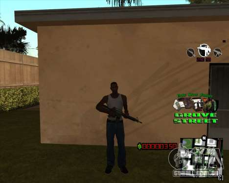 C-HUD West Side Grove Street para GTA San Andreas