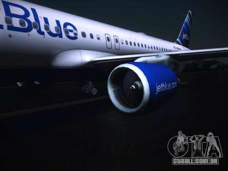 Airbus A320 JetBlue para GTA San Andreas vista direita