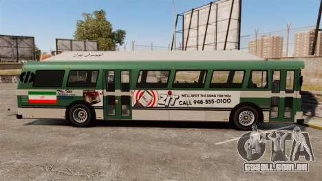 Iraniano pintura de ônibus para GTA 4 esquerda vista