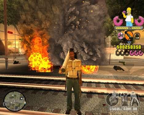 C-HUD Mr. Simpson para GTA San Andreas segunda tela