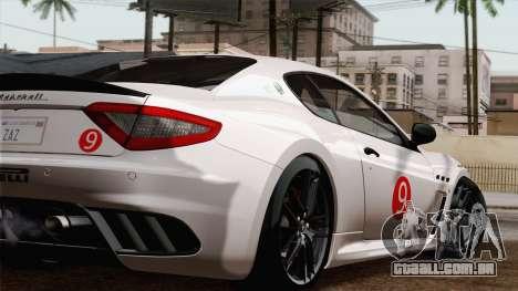 Maserati GranTurismo MC Stradale para GTA San Andreas vista traseira