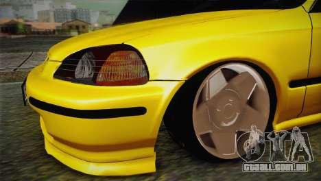 Honda Civic Edit Mehmet ALAN para GTA San Andreas vista direita