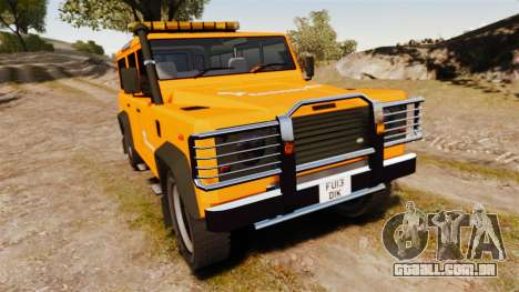 Land Rover Defender tecnovia [ELS] para GTA 4