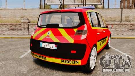 Renault Scenic Medicin v2.0 [ELS] para GTA 4 traseira esquerda vista