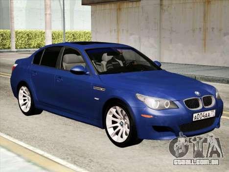 BMW M5 E60 2010 para GTA San Andreas esquerda vista