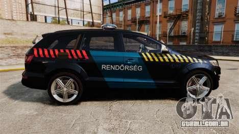 Audi Q7 Hungarian Police [ELS] para GTA 4 esquerda vista