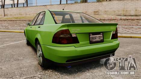 Sultan New Wheel para GTA 4 traseira esquerda vista