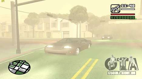Weather Menu para GTA San Andreas por diante tela