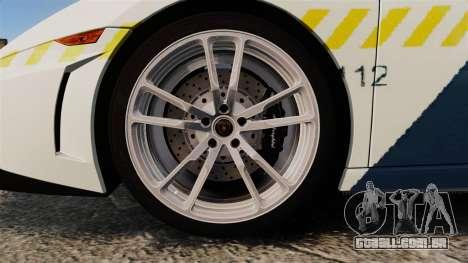 Lamborghini Gallardo Hungarian Police [ELS] para GTA 4 vista de volta