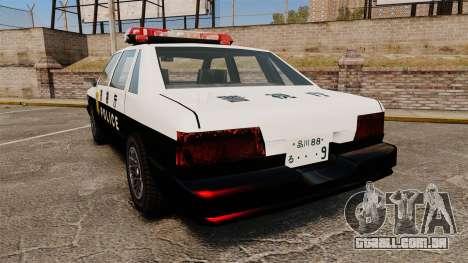 GTA SA Japanese Police Cruiser [ELS] para GTA 4 traseira esquerda vista
