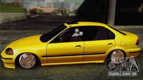 Honda Civic Edit Mehmet ALAN para GTA San Andreas esquerda vista
