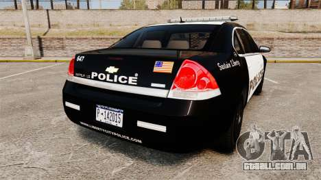 Chevrolet Impala 2008 LCPD [ELS] para GTA 4 traseira esquerda vista