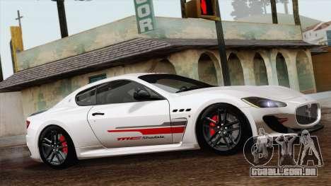 Maserati GranTurismo MC Stradale para GTA San Andreas traseira esquerda vista