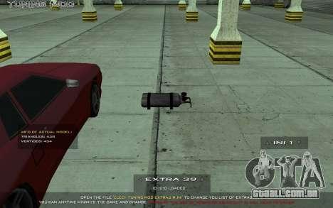 Tuning Mod 0.9 para GTA San Andreas por diante tela
