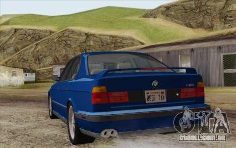 BMW M5 E34 1994 NA-spec para GTA San Andreas esquerda vista