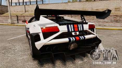Lamborghini Gallardo LP570-4 Martini Raging para GTA 4 traseira esquerda vista