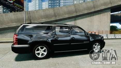 Chevrolet Suburban 2008 FBI [ELS] para GTA 4 esquerda vista