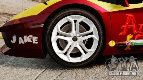 Lamborghini Aventador LP700-4 2012 [EPM] Jake para GTA 4 vista de volta