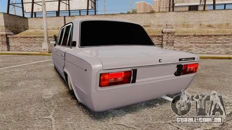 VAZ-2106 Zhiguli BUNKER para GTA 4 traseira esquerda vista