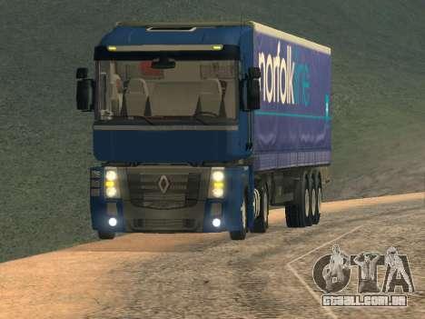 Renault Magnum para GTA San Andreas esquerda vista