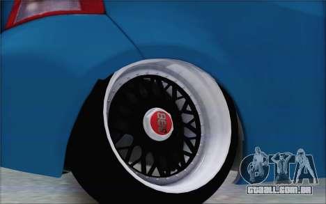 Toyota Yaris Hellaflush Young Child para GTA San Andreas vista traseira